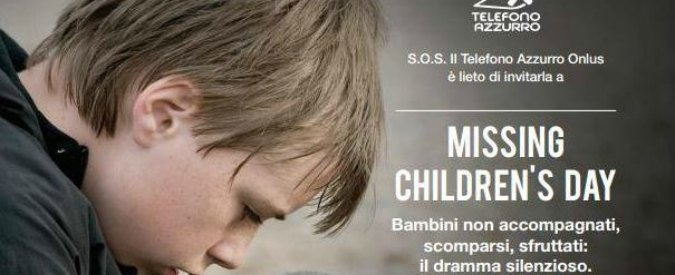 Giornata dei bambini scomparsi: 'Ne sparisce uno ogni 2 minuti. In Ue 10mila minori migranti svaniti nel nulla nel 2015'