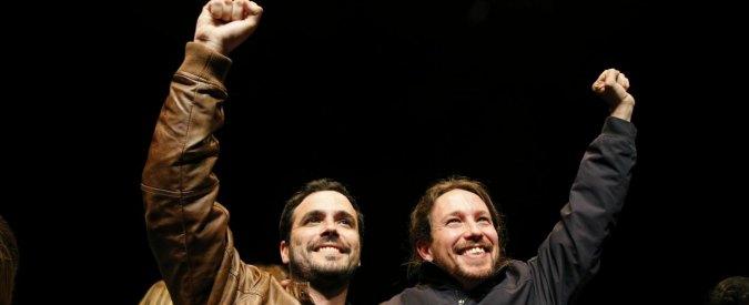 """Spagna, accordo elettorale tra Podemos e Izquierda Unida: la coalizione ora sogna il """"sorpasso"""" sul Partito popolare"""