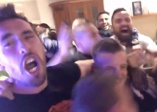 Festeggiamenti giocatori del Leicester per la vittoria della Premier