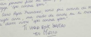 """Marco Pannella, l'ultima lettera a Papa Francesco: """"Ti voglio bene davvero"""""""