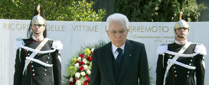 """Terremoto Friuli 1976, Mattarella: """"Grazie ai friulani per la determinazione di ricostruire tutto come era prima"""""""