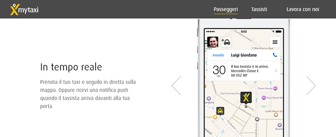 Car sharing, il servizio pubblico di mytaxi