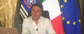 """Renzi: """"Credo che Equitalia al 2018 non ci arriva. Crisi occupazione? Clamorose balle"""""""