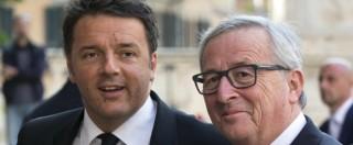 """Migranti, Juncker: """"Bene il piano del governo Renzi. Gli Eurobond? La modalità non conta, l'importante è finanziarlo"""""""