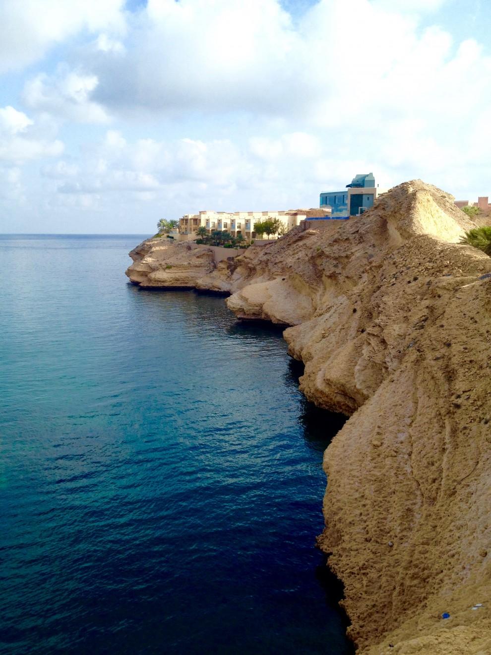 Muscat: gli annessi (foresteria) del palazzo del sultano