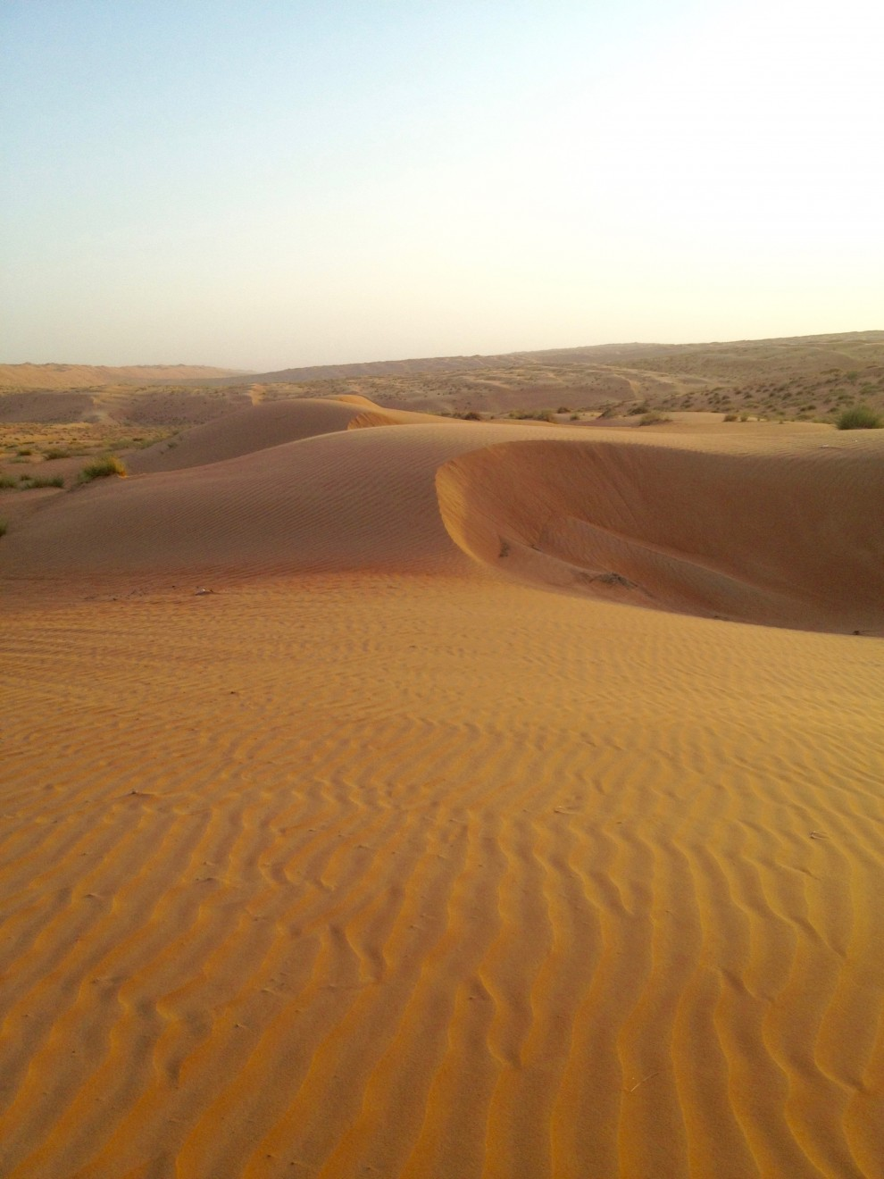 Le dune del deserto al centro del Paese