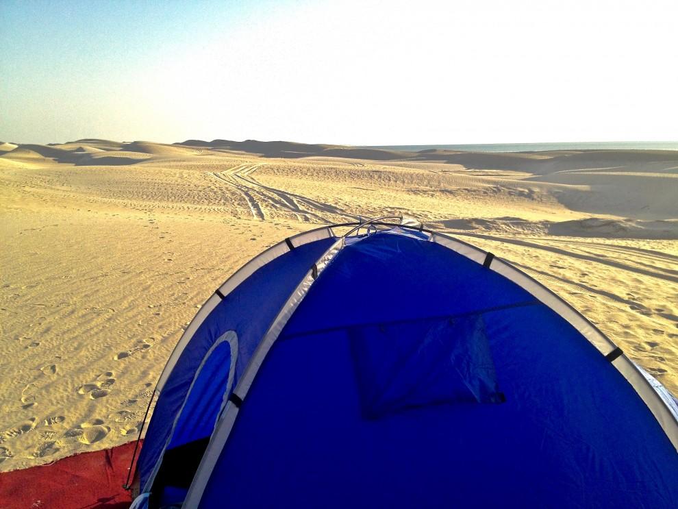 Si dorme in tenda