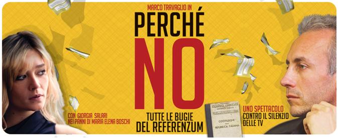"""Caffeina 2016: """"PERCHÉ NO"""", spettacolo sul referendum costituzionale con Marco Travaglio"""