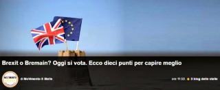 """Brexit, blog di Grillo: """"Restare nell'Unione Europea per trasformarla dall'interno"""""""