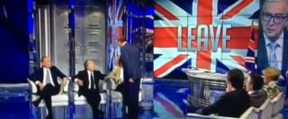 Brexit, lite a Porta a Porta tra Vespa e Brunetta mentre parla Serra. 'Basta interrompere'. 'Dica che è amico di Renzi'