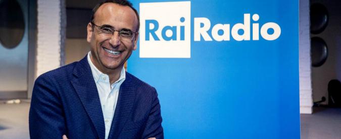 Carlo Conti direttore artistico RadioRai: l'integrazione con la tv punta a migliorare l'offerta agli investitori pubblicitari