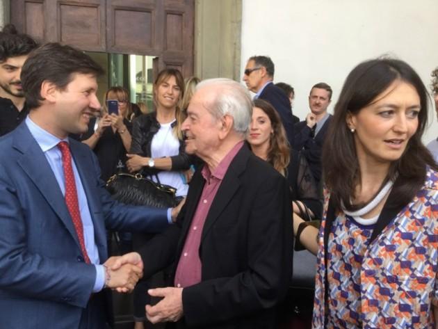 Dario Nardella, Nanni Balestrini, Valentina Gensini ph Sabrina de Gaetano