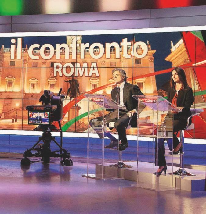 I candidati sindaco a Roma tra insulti e scontri in tv