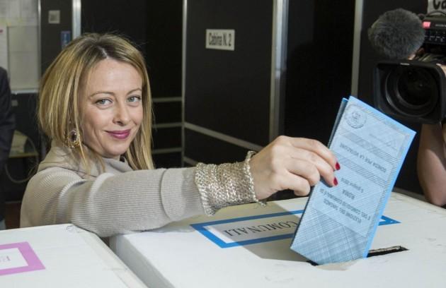 Roma, Giorgia Meloni al voto per le comunali