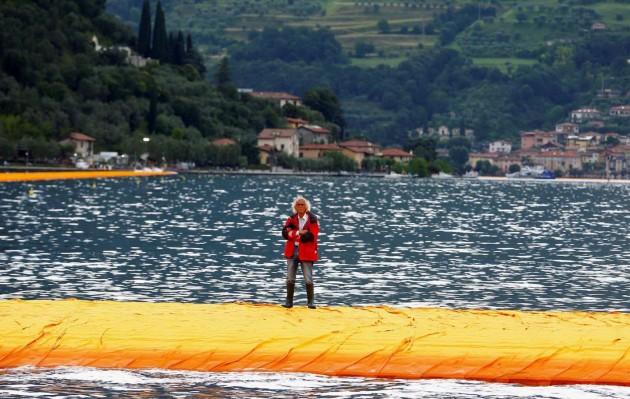 Piattaforma Christo Lago d'Iseo 5
