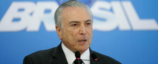 """Brasile, nuova crisi politica dopo richiesta arresto presidenti Camera e Senato. Nyt: """"Il governo Temer è illegittimo"""""""