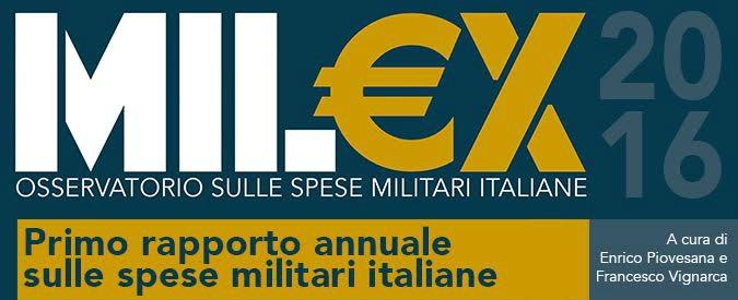 """Spese militari, """"l'Italia investe 2,5 milioni all'ora"""". Al via campagna per creare un osservatorio indipendente"""
