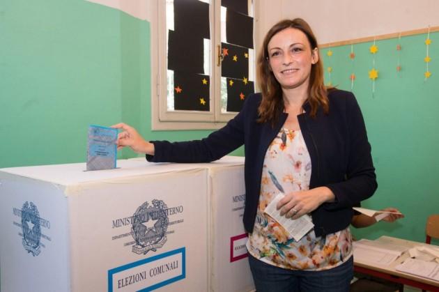 Bologna, Lucia Borgonzoni al voto per le comunali