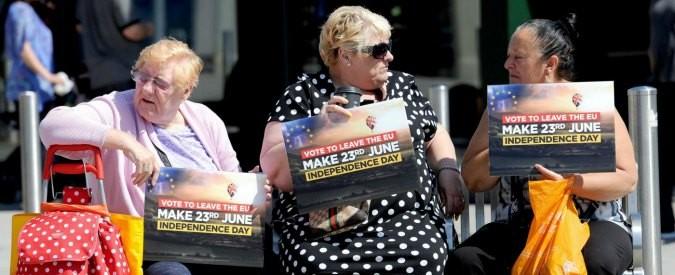 Brexit, voluta dagli anziani e pagata dai giovani
