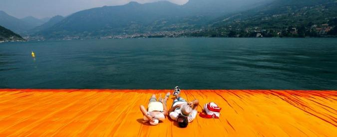 The Floating Piers di Christo, un'esperienza tattile