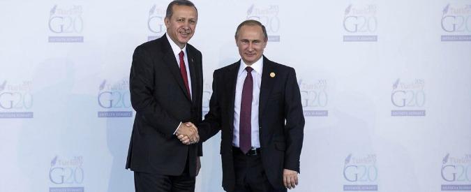 """Jet russo abbattuto, lettera di scuse di Erdogan a Putin: """"Ogni iniziativa per alleviare il danno arrecato"""""""