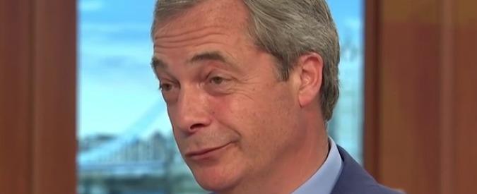 """Parlamento Ue, """"indagine per irregolarità finanziarie contro Nigel Farage. Non dichiarò regali del magnate Arron Banks"""""""