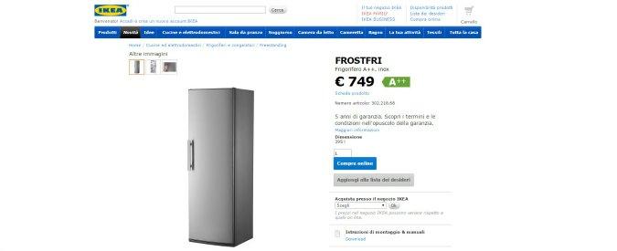"""Ikea, """"rischio scossa elettrica"""" per frigoriferi e congelatori prodotti fra novembre 2015 e febbraio 2016"""