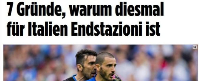 """Italia-Germania: per giornali tedeschi gli azzurri di Conte sono """"nonnetti"""" da considerare """"già spacciati"""""""
