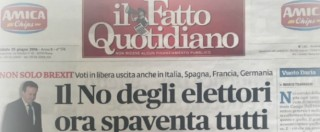 """Brexit, i titoli dei principali quotidiani italiani. Su tutti il Sole 24 Ore che intima: """"Europa svegliati"""" – FOTOGALLERY"""