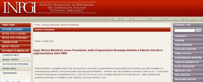 Cassa giornalisti, scontro su stipendio da 230mila euro della neo presidente. Mentre l'Inpgi è in rosso per 142 milioni