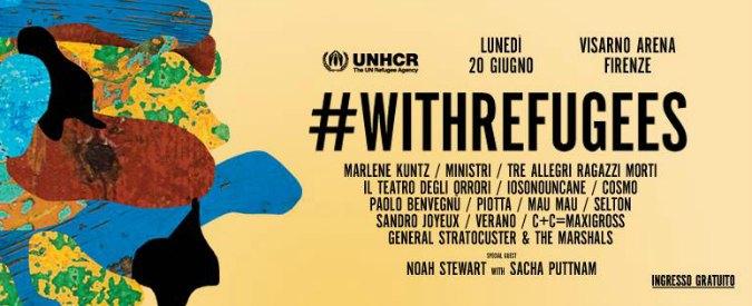 Giornata mondiale del rifugiato, concerto #WithRefugees a Firenze il 20 giugno: da I Ministri ai Marlene Kuntz