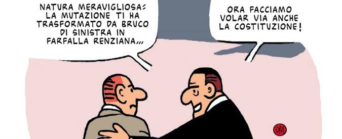 """Referendum costituzionale 2016, nascono i """"Vignettisti per il no"""". Padre nobile Maramotti, ex dell'Unità"""