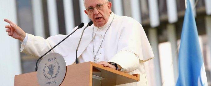 """Papa Francesco: """"La fame nel mondo non è naturale né ovvia, viene usata come arma di guerra"""""""