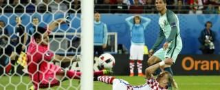 Croazia-Portogallo: decide Quaresma a due minuti dalla fine dei supplementari. Prima ha vinto la noia