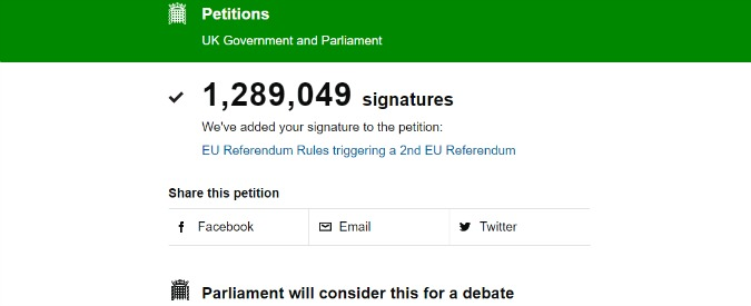 remain petition 675