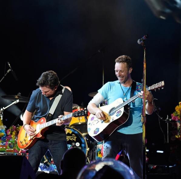 Chris Martin e Michael J. Fox
