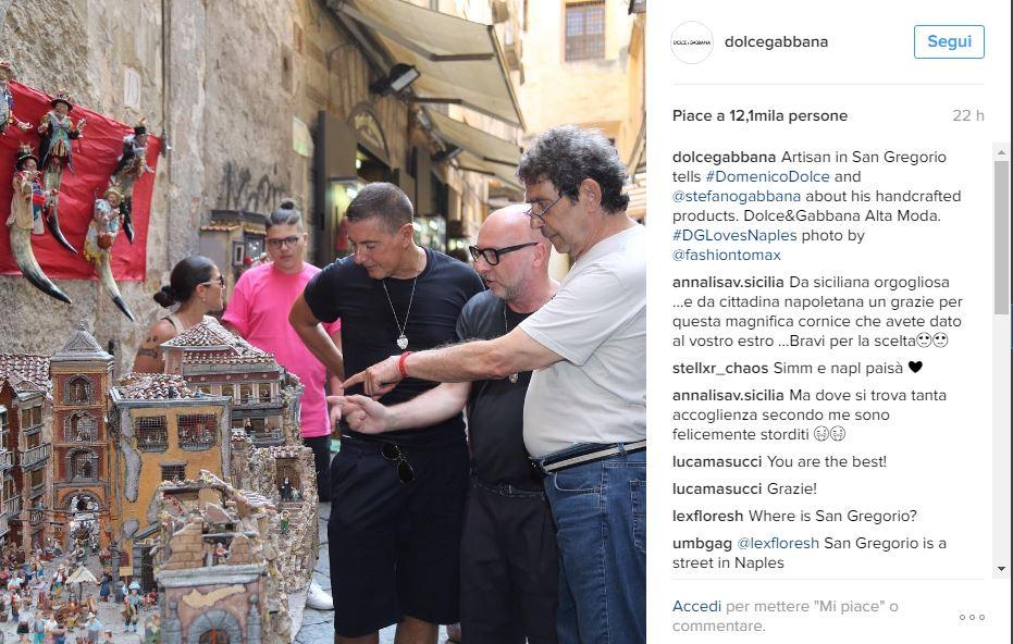 online store 97391 9b3e7 Dolce & Gabbana, a Napoli il maxi evento che scatena la ...