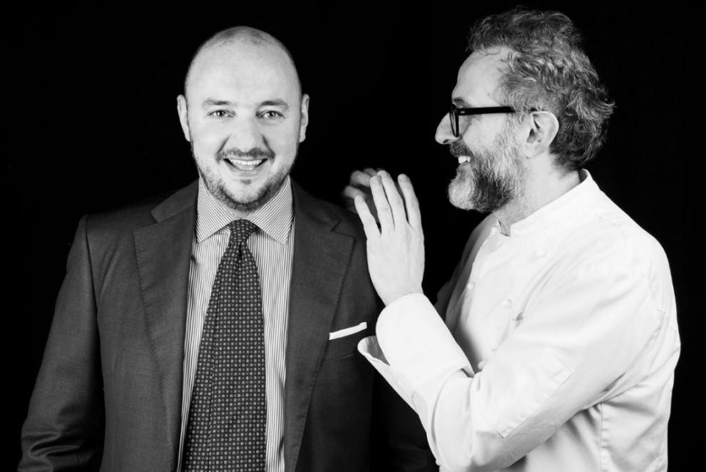 Giuseppe Palmieri e Massimo Bottura (foto Brambilla-Serrani)