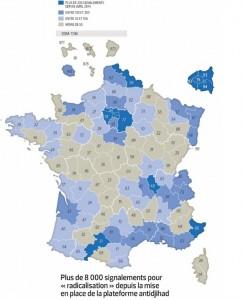 Segnalazioni radicalizzazione Francia