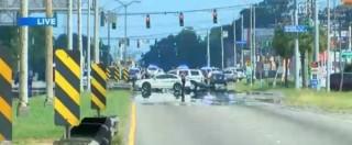 Usa, spari contro la polizia a Baton Rouge: 3 morti. Morto un sospetto, un complice barricato, un terzo in fuga