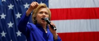"""Usa 2016, Hillary Clinton presenta il suo programma economico e attacca Trump: """"Il suo piano impoverirà la middle-class"""""""