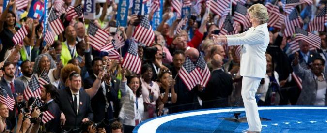 """Elezioni Usa 2016, Hillary Clinton accetta la nomination alla Casa Bianca: """"L'America è alla resa dei conti"""""""