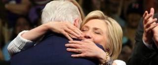 """Elezioni Usa, Hillary Clinton nella storia: prima donna in corsa. Sanders chiede acclamazione. Bill: """"Lei il cambiamento"""""""