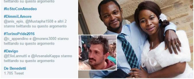 Morte Emmanuel, #iostoconAmedeo: i razzisti escono allo scoperto su Twitter