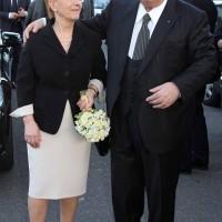 Con la moglie Lucia