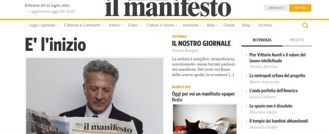 """Il manifesto, i giornalisti ricomprano la testata. """"Siamo tornati padroni di un giornale indipendente e autogestito"""""""