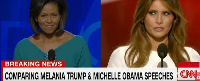 """Convention repubblicana, polemiche sul plagio del discorso di Melania Trump: """"Ha copiato Michelle"""""""