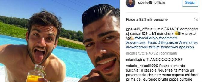 Graziano Pellè posta una foto con Parolo sorridente su Instagram. Rete divisa tra insulti ed elogi (pochi)