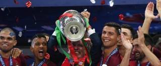 Euro 2016, il Portogallo vince. La gioia di Ronaldo e compagni è incontenibile