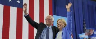 """Elezioni Usa, Sanders: """"Votiamo Clinton per sconfiggere il bullo Trump"""". Fischi dei suoi sostenitori"""
